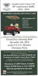 Golf Cart Raffle to benefit the Franklin County Honor Flight