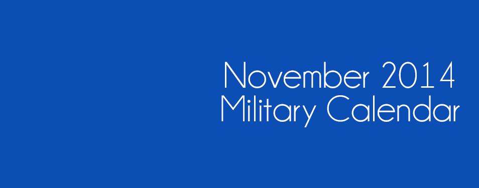 Military Calendar November 2014