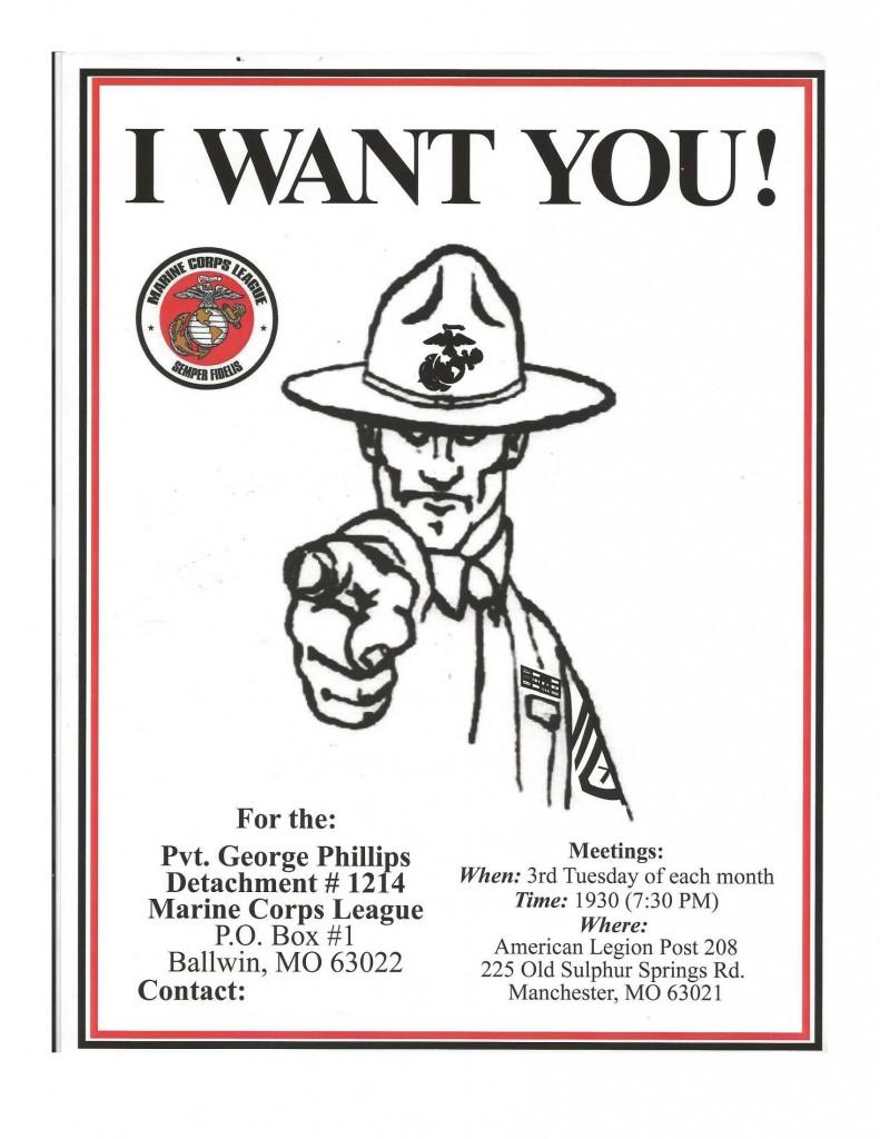 Pvt. George Phillips Detachment #1214, Marine Corps League January 2015 Calendar