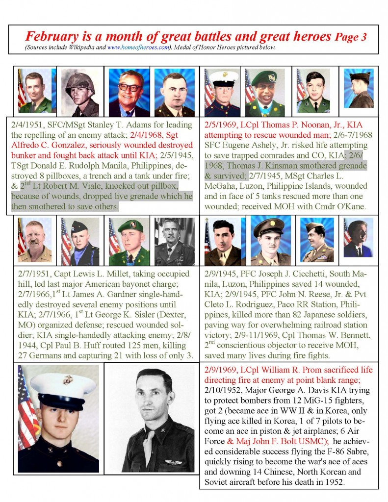 Pvt. George Phillips Detachment #1214, Marine Corps League February 2015 Calendar